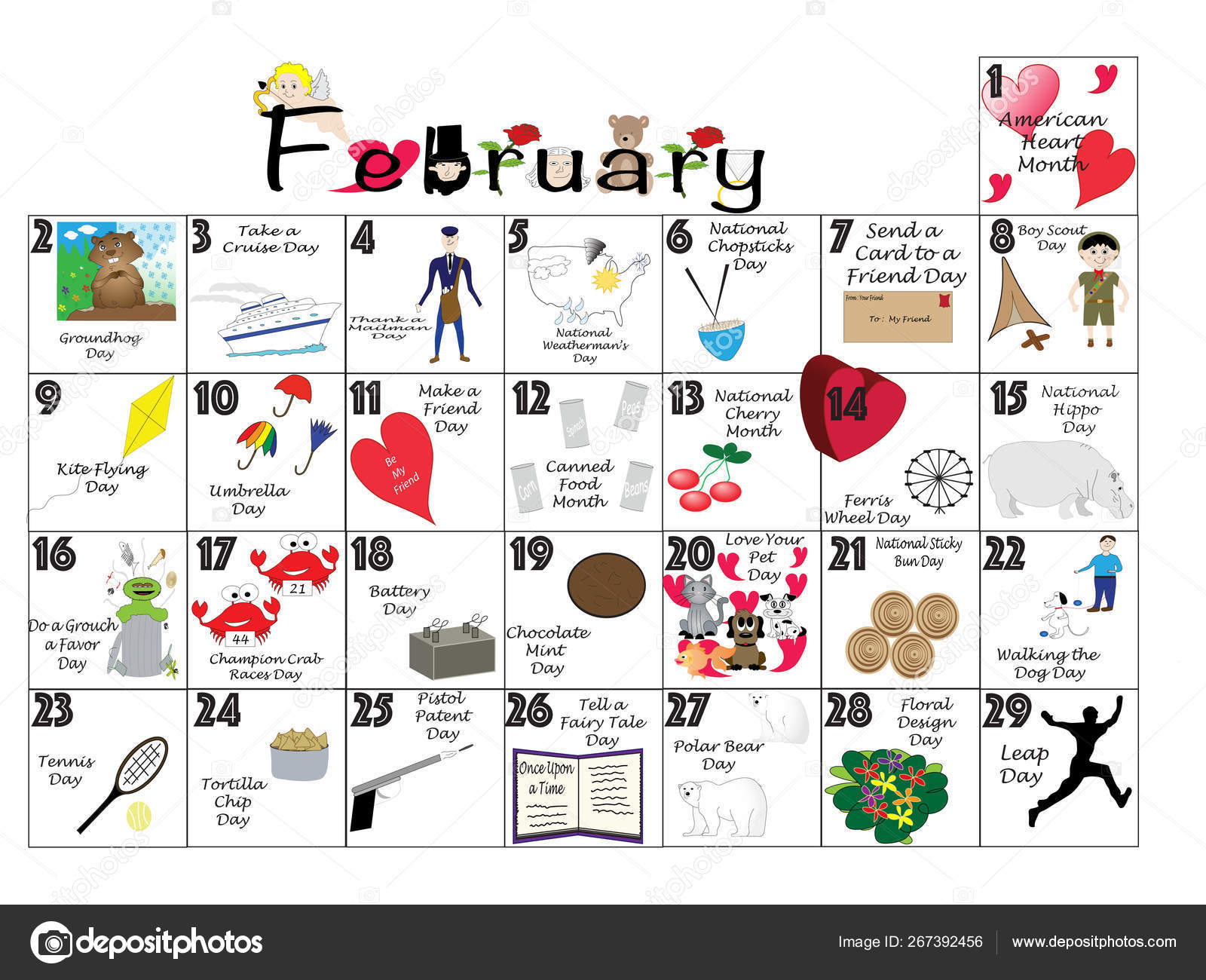 February 2020 Quirky Holidays And Unusual Celebrations with February 2020 Daily Calendar