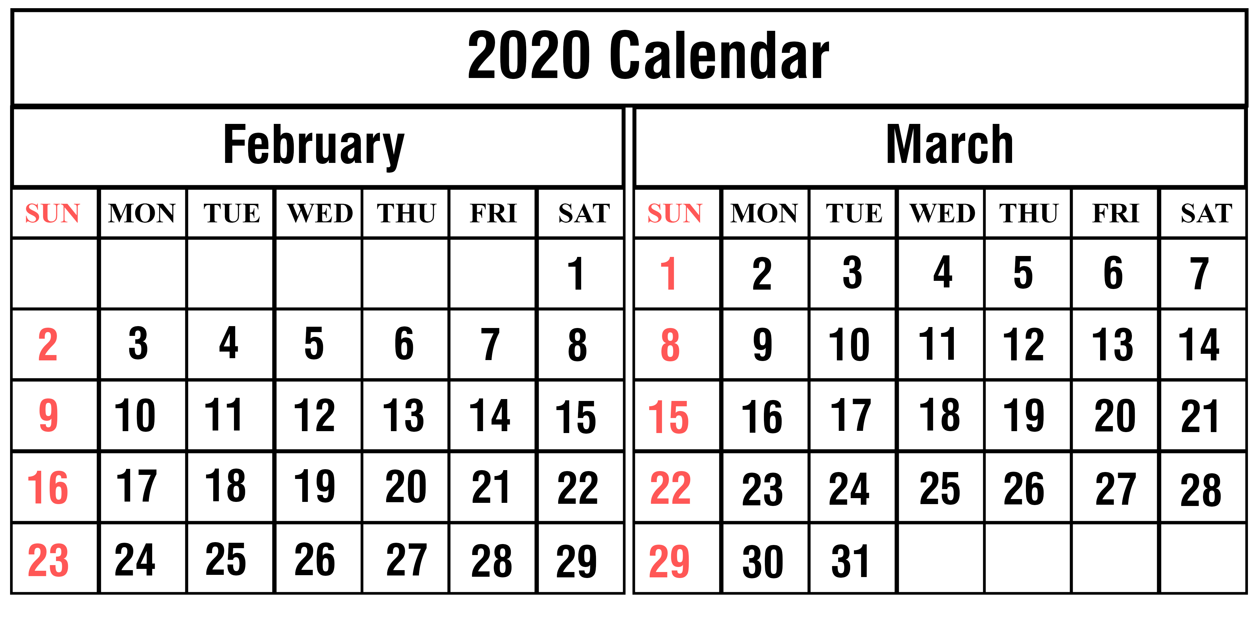 February March 2020 Calendar Quotes Of The Day | Free intended for 2020 Calendar February And March