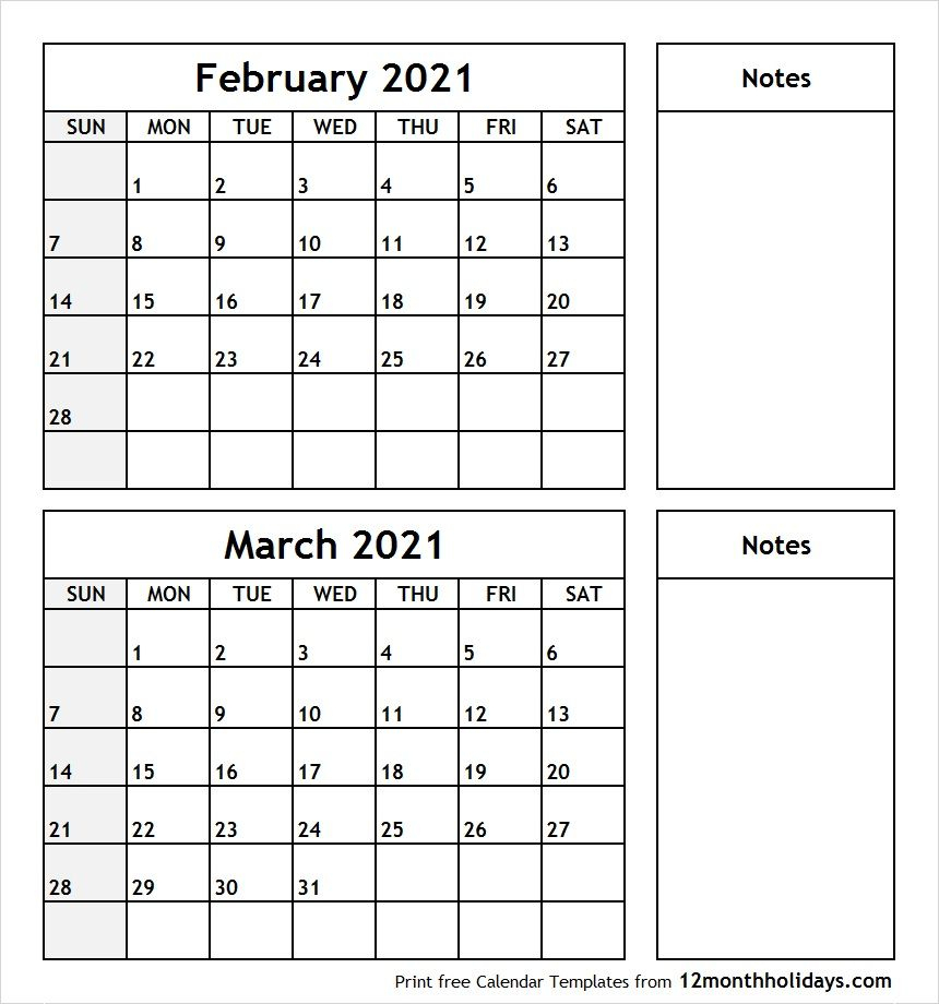 February March 2020 Printable Calendar | Calendar June regarding 2020 Calendar February And March