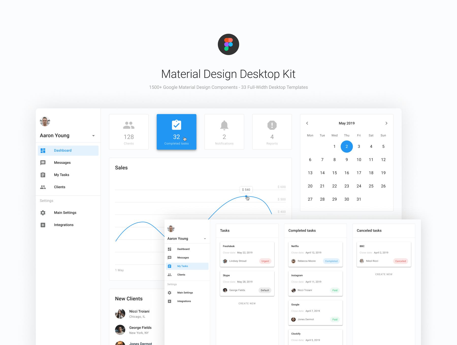 Figma Material Design Desktop Ui Kit — Ui Kits On Ui8 for Material Design Calendar Icon