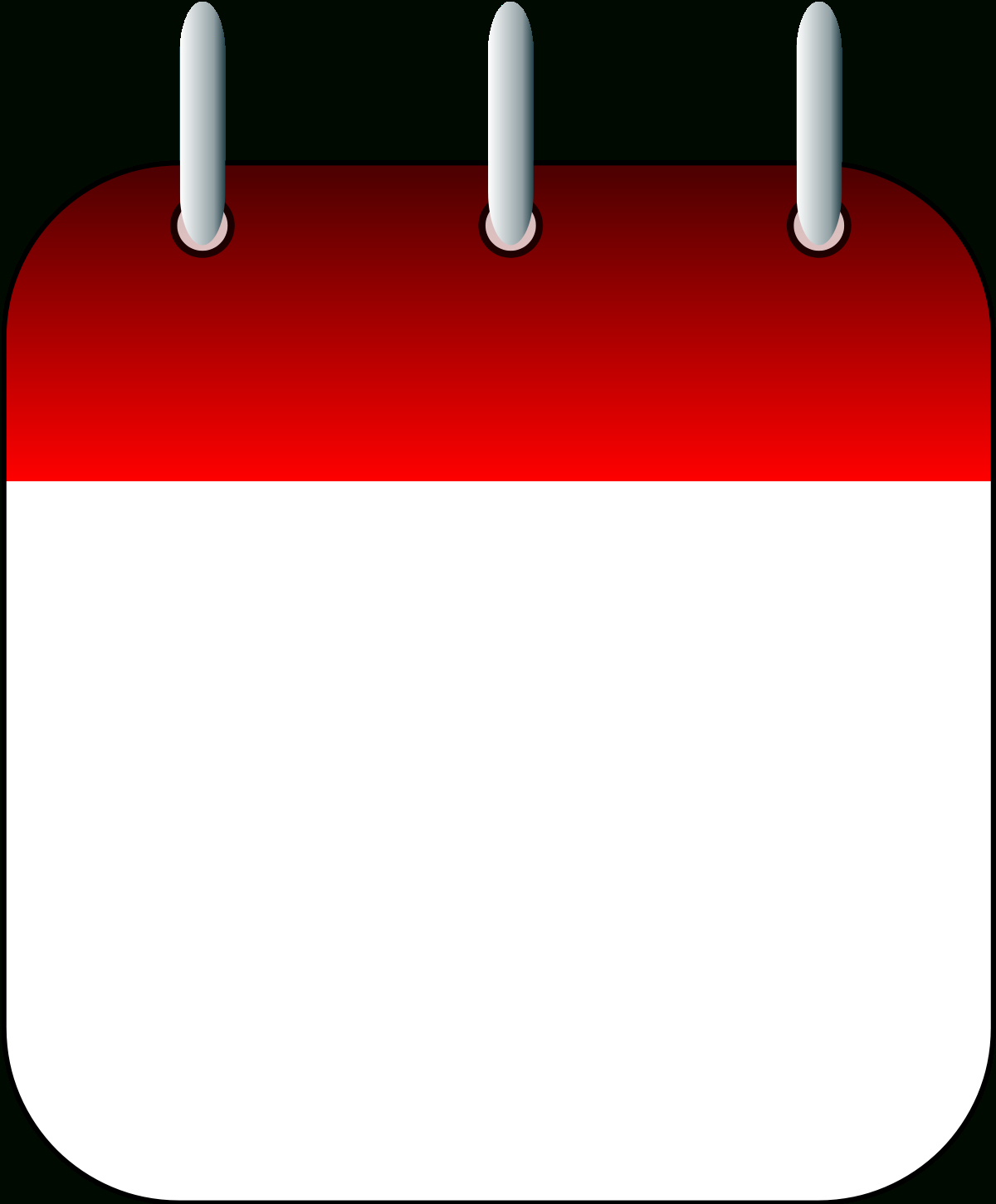 File:blank Calendar Page Icon.svg  Wikipedia throughout Blank Calendar Svg