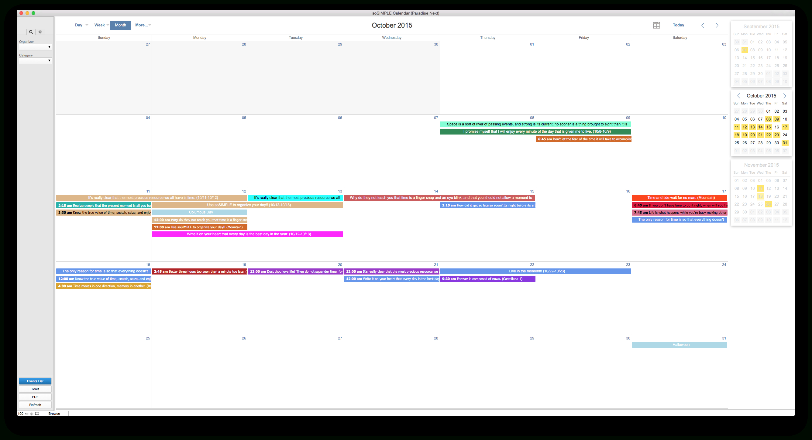 Filemaker Calendar And Resource Scheduler – By Sosimple for Filemaker Calendar Template