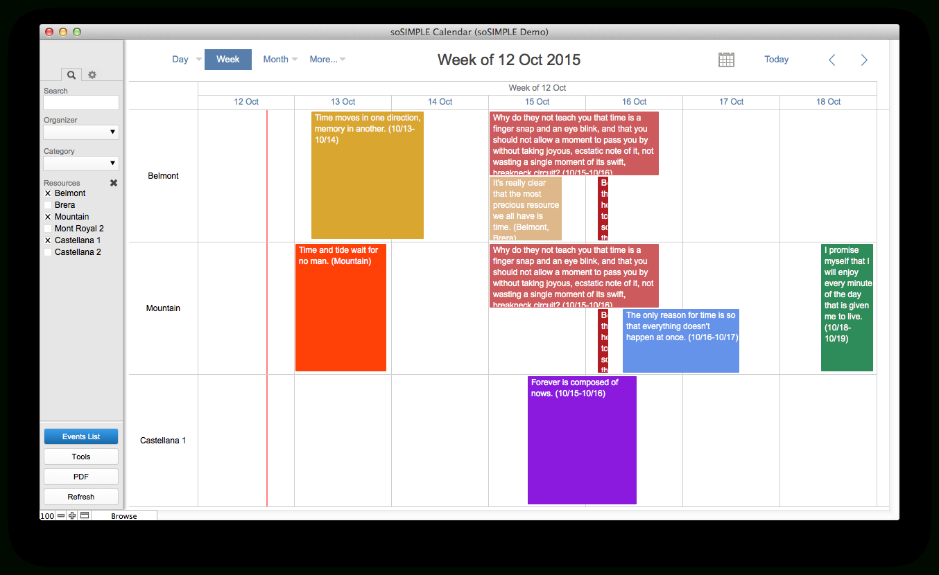 Filemaker Calendar And Resource Scheduler – By Sosimple pertaining to Filemaker Calendar Template