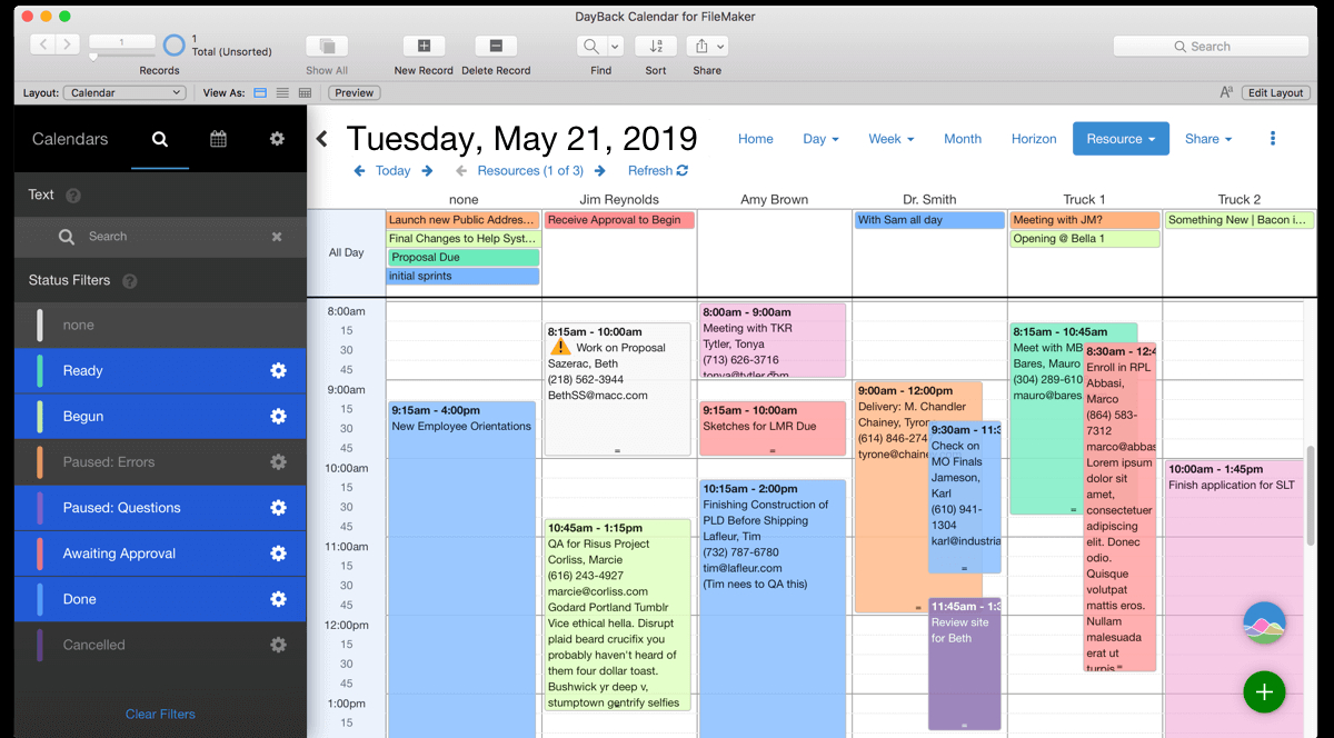 Filemaker Calendar And Resource Scheduling  Seedcode intended for Php Calendar Event Scheduler Code