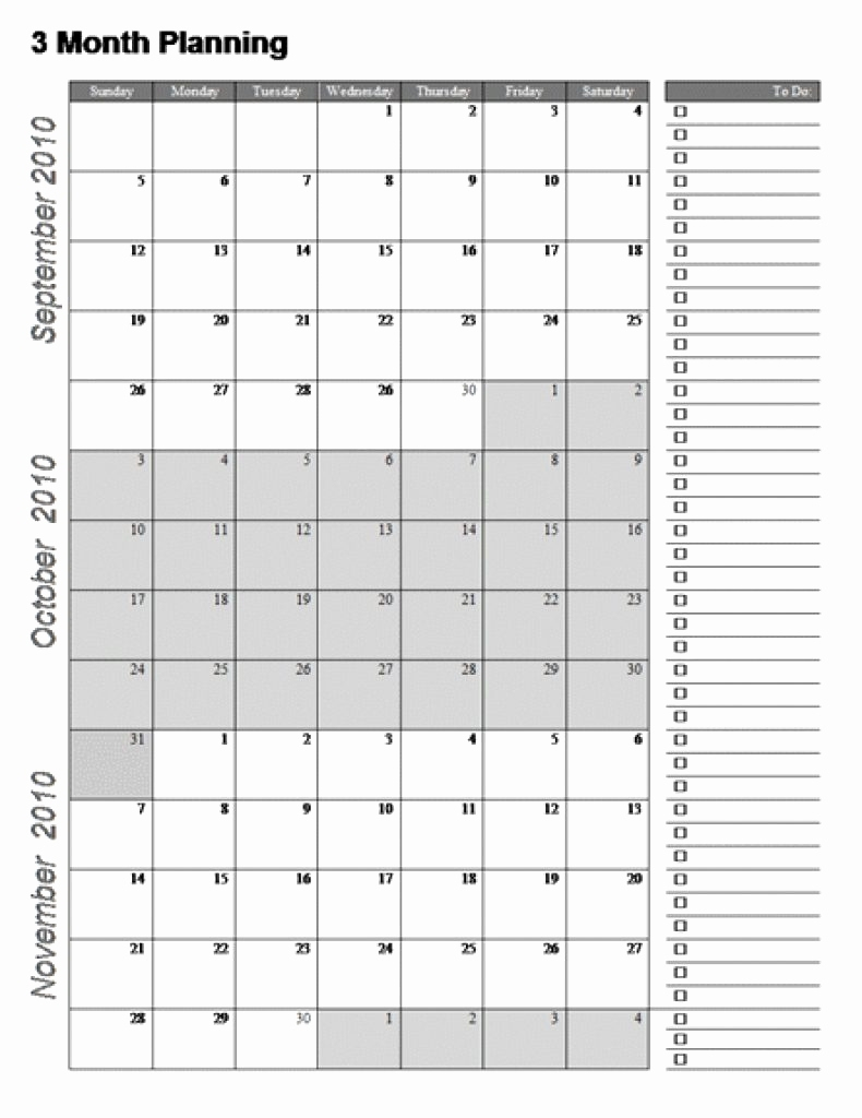 Fine 4 Page Printable Calendar : Mini Calendar Template intended for Printable Calendar 3 Months Per Page