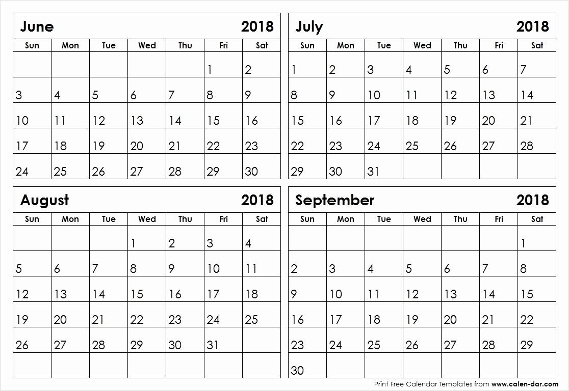 Fine 4 Page Printable Calendar : Mini Calendar Template with Printable Calendar 3 Months Per Page