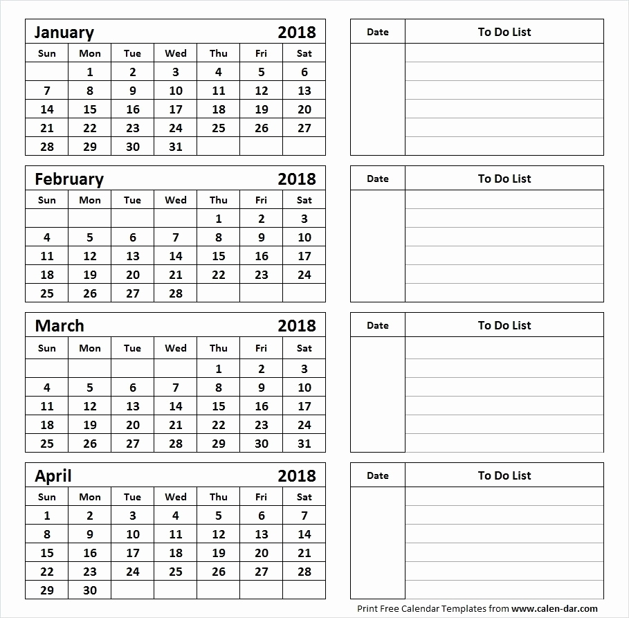 Fine 4 Page Printable Calendar : Mini Calendar Template with regard to Printable Calendar 4 Months Per Page