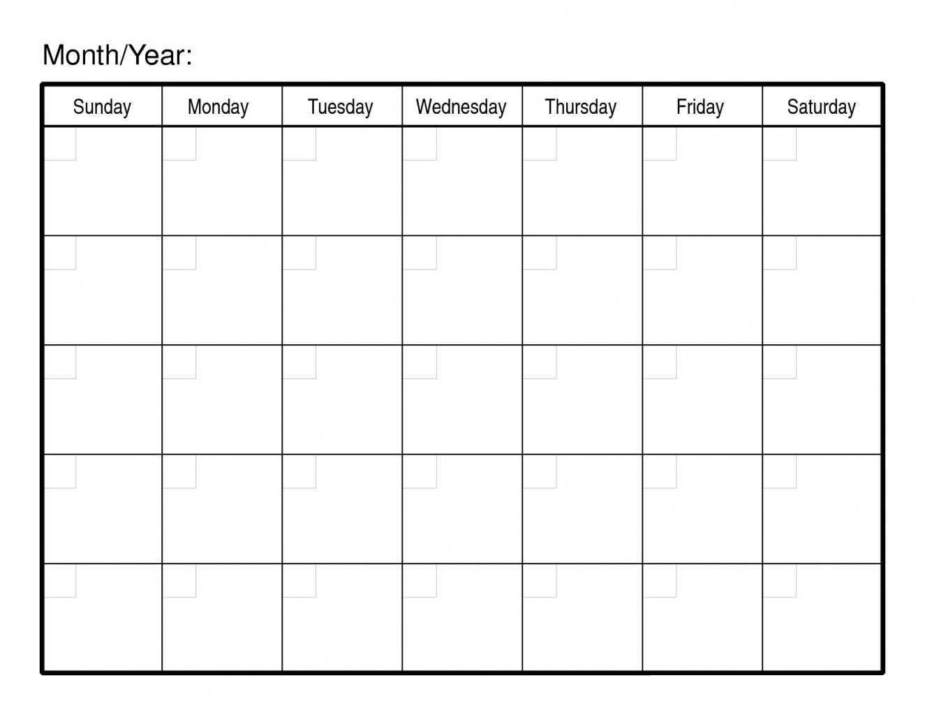 Fine Free Printable 30 Day Calendar : Mini Calendar Template in 30 Day Calendar Blank