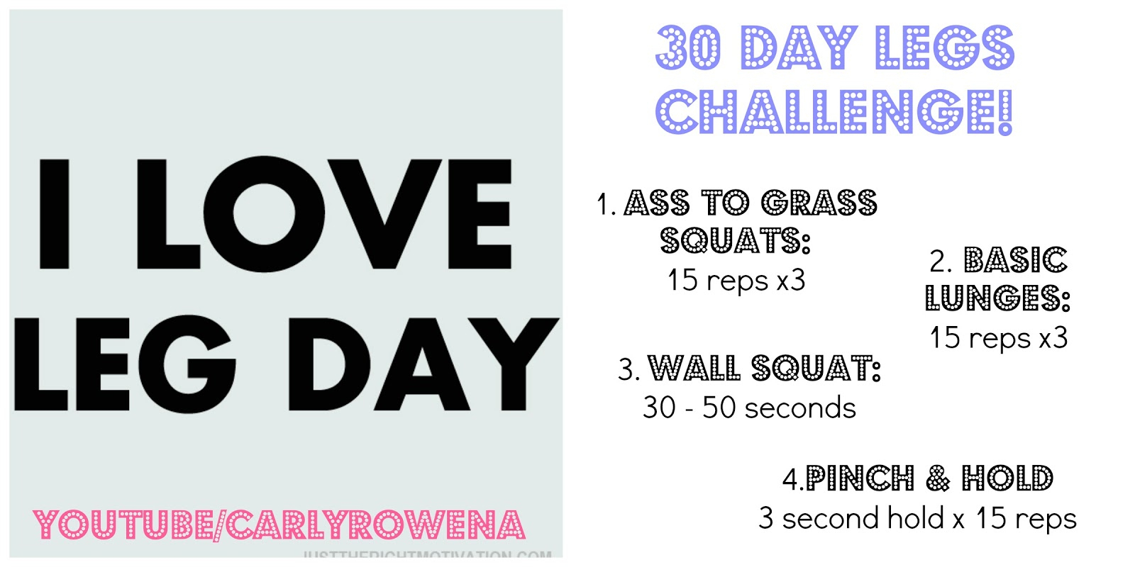 Fitnez Blog: 30 Day Leg Challenge | Carlyrowena pertaining to 30 Day Inner Thigh Challenge