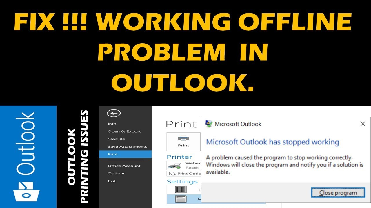 Fix !!!! Outlook Crash Or Hangs While Printing pertaining to Outlook Freezes When Opening Calendar