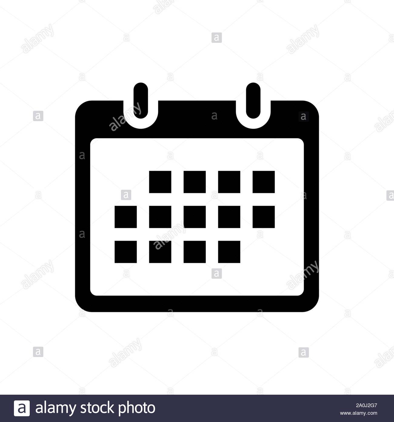 Flat Calendar Icon. Calendar On The Wall. Vector for Icon Calendar Vector