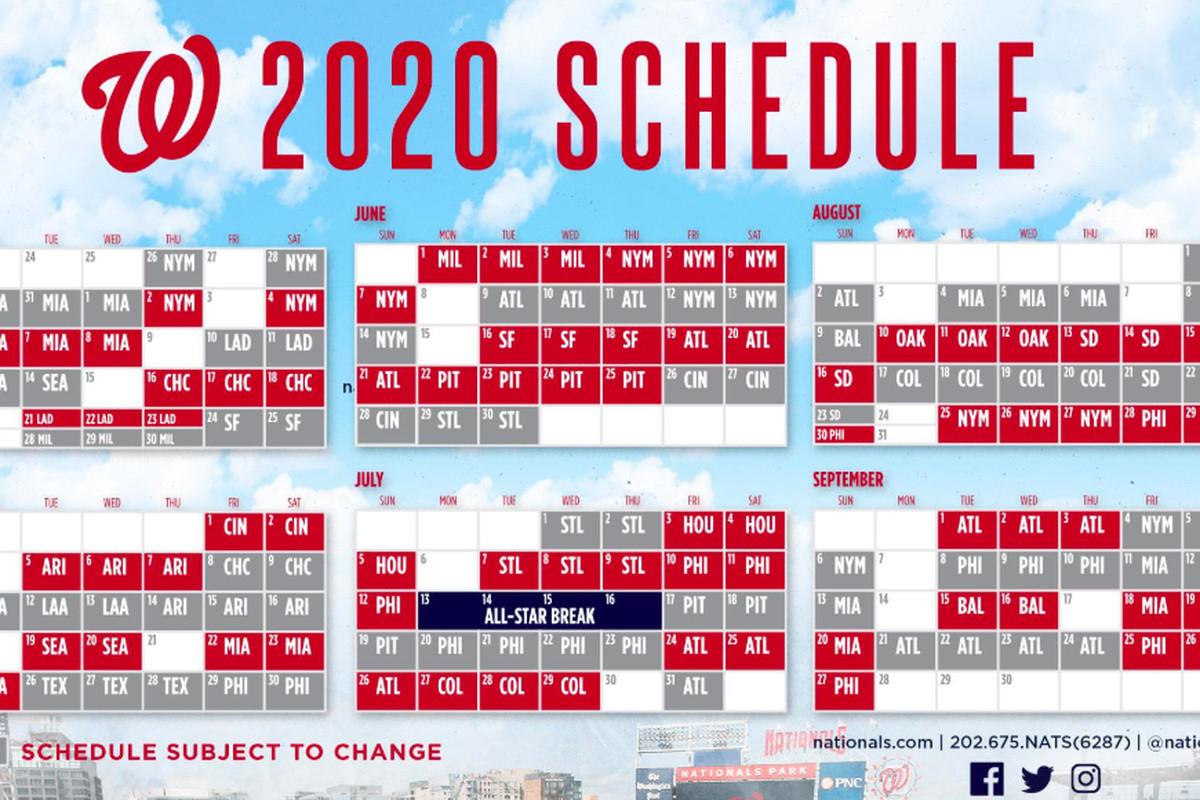 Flipboard: Washington Nationals' 2020 Schedule Released with regard to Atlanta Braves Schedule 2020 Printable
