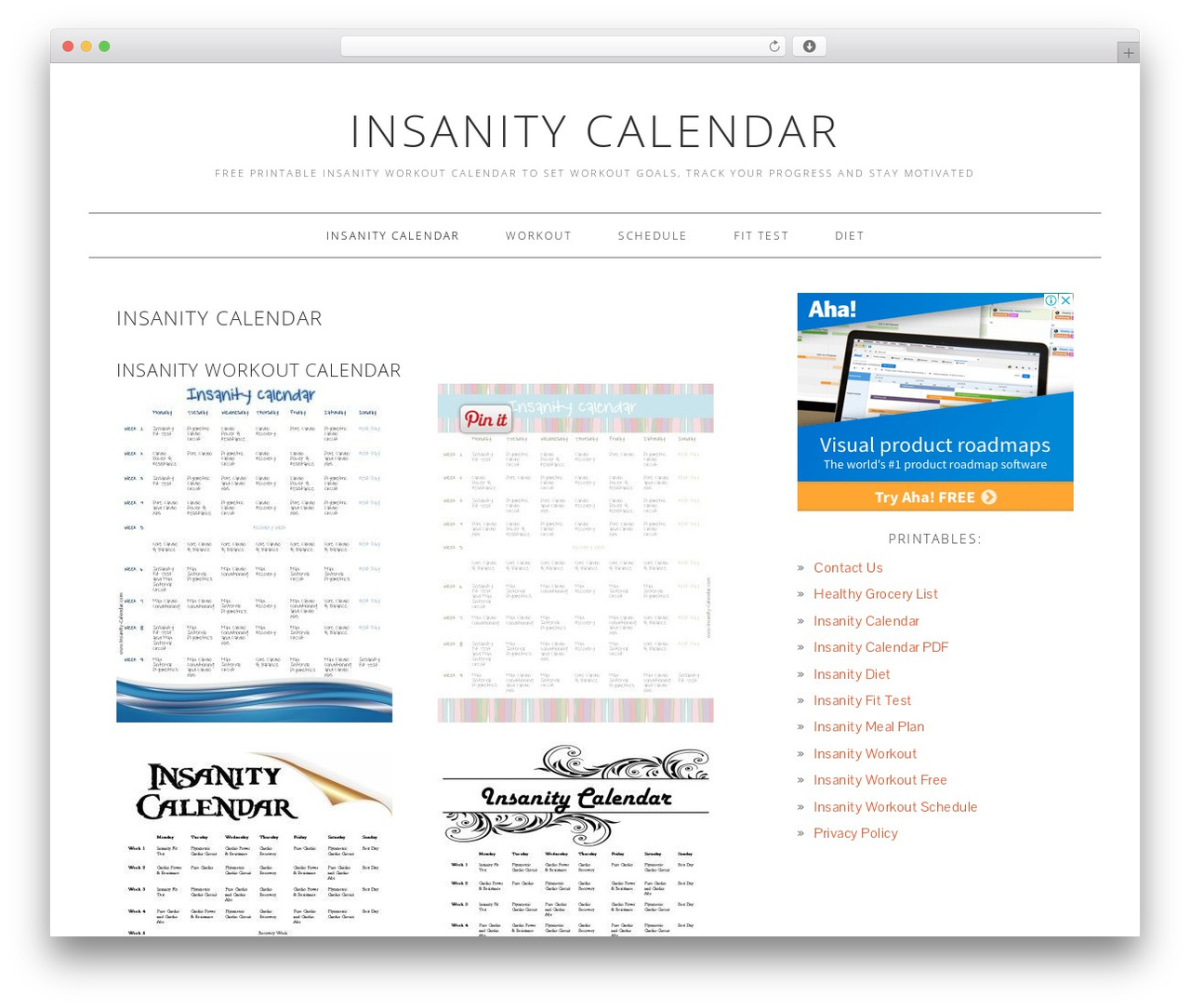 Foodie Child Theme Food WordPress Theme By Shay Bocks within Insanity Calendar Pdf