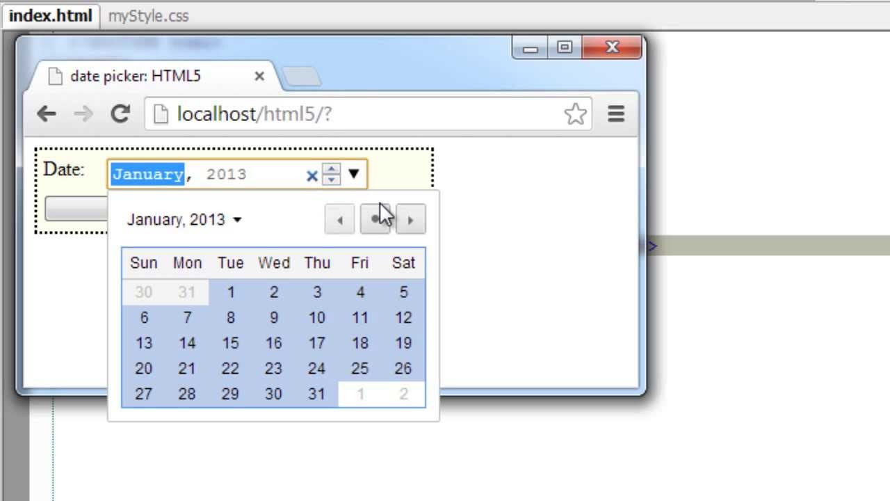 Form Input Type  Date Time: Html5 pertaining to Php Calendar Date Picker