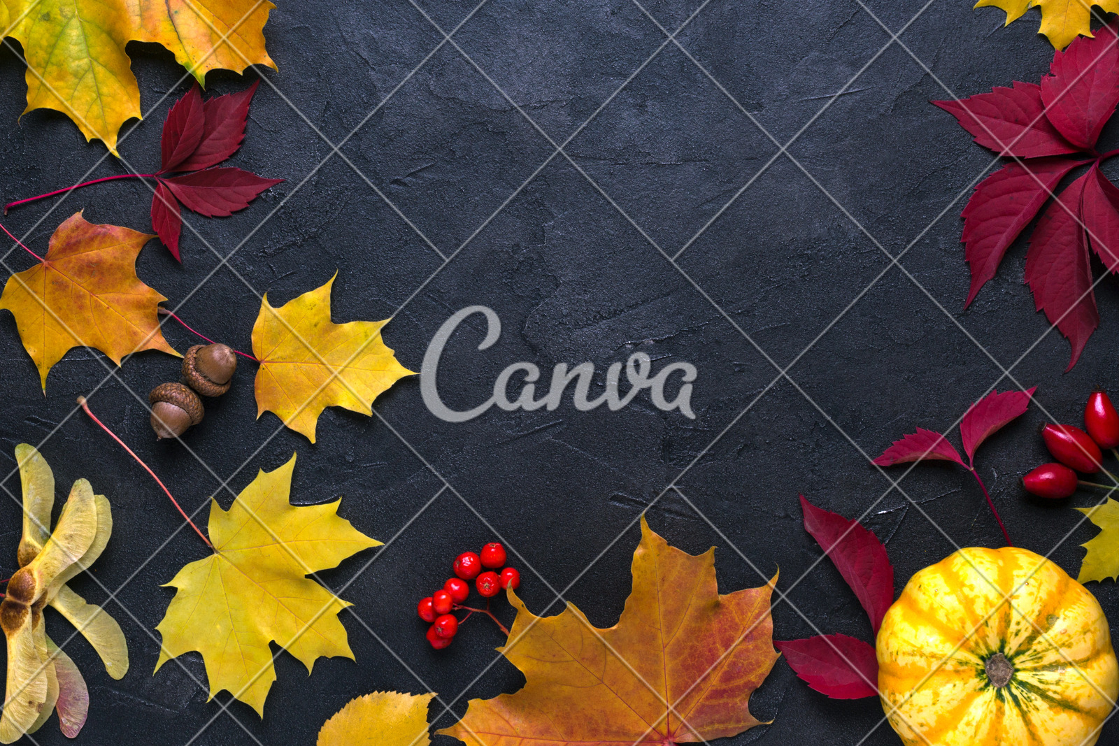 Frame With Autumn Maple Leaves. Nature Fall Template For intended for Canva Ticket Template
