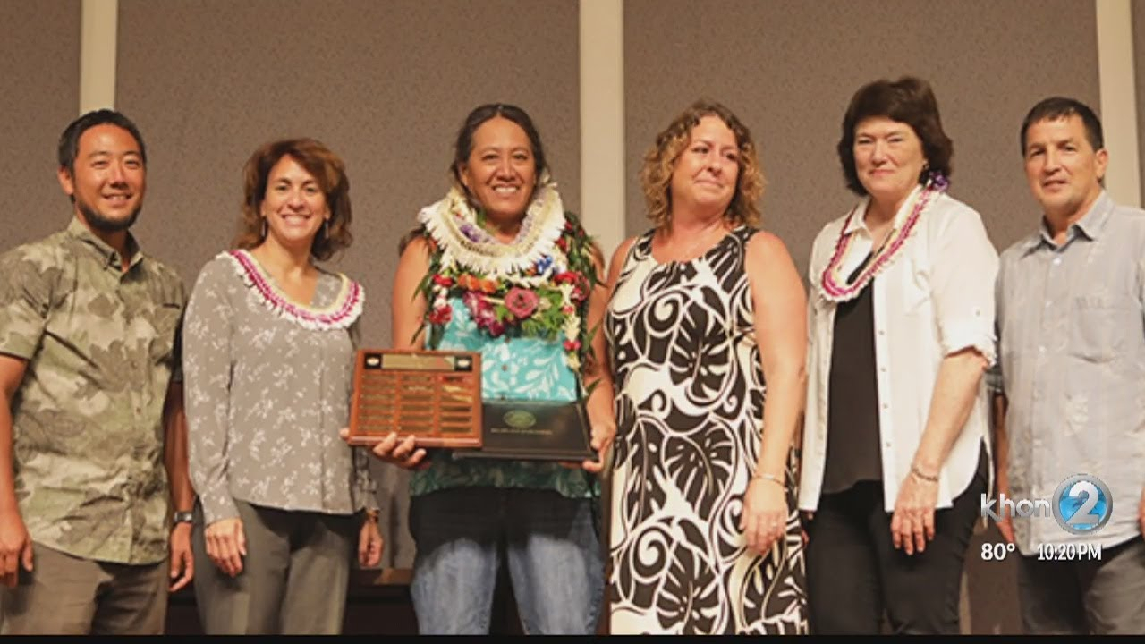 Francine Flores Of Maui's King Kamehameha Iii Elementary School Selected As  Doe Employee Of The Year throughout King Kamehameha 3 School