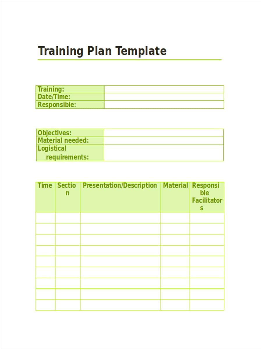 Free 14+ Training Schedule Examples And Samples In Pdf for Blank Training Plan Template