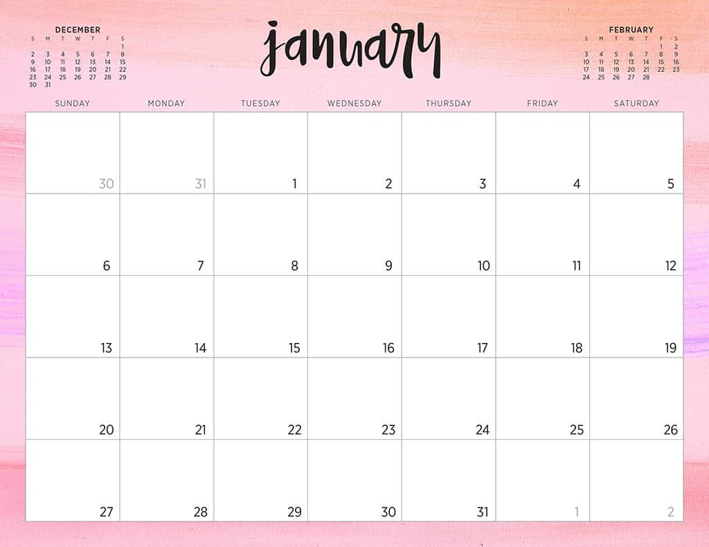 Free 2019 Printable Calendars  46 Designs To Choose From! pertaining to Calendar Printing Services Philippines