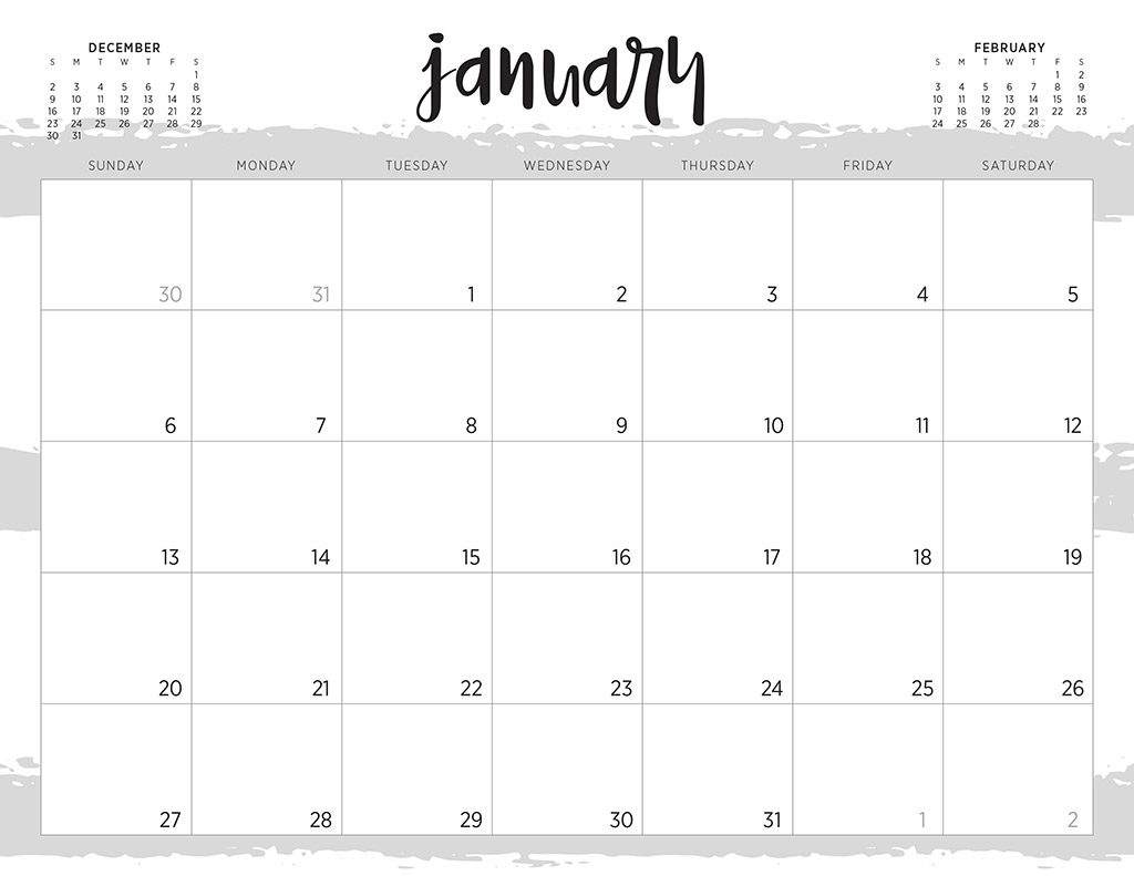 Free 2019 Printable Calendars  46 Designs To Choose From! throughout Pretty Printable Calendar