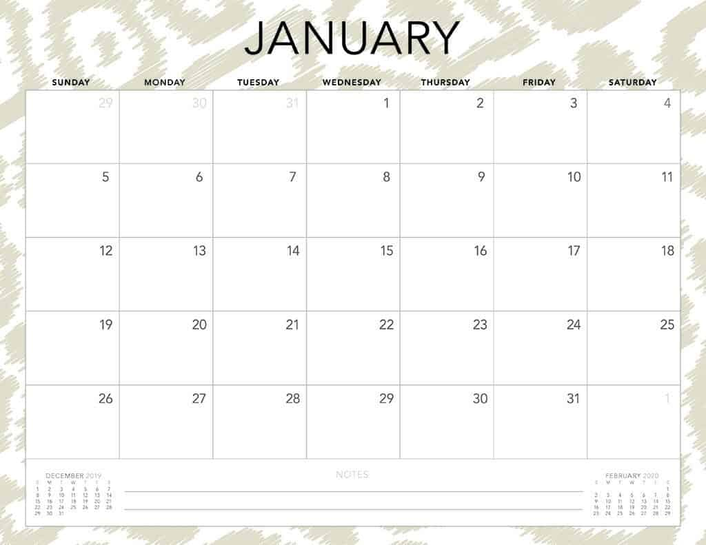 Free 2020 Printable Calendars  51 Designs To Choose From! for Monthly Calendar 2020 Printable