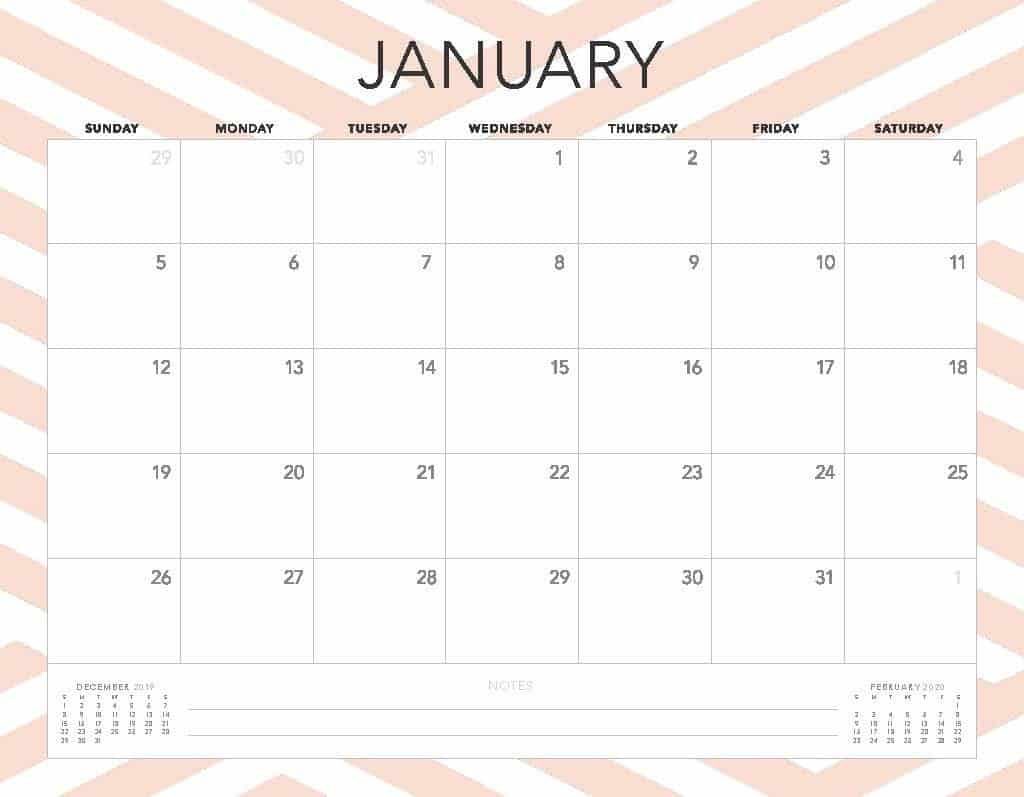 Free 2020 Printable Calendars  51 Designs To Choose From! with Pretty Printable Calendar