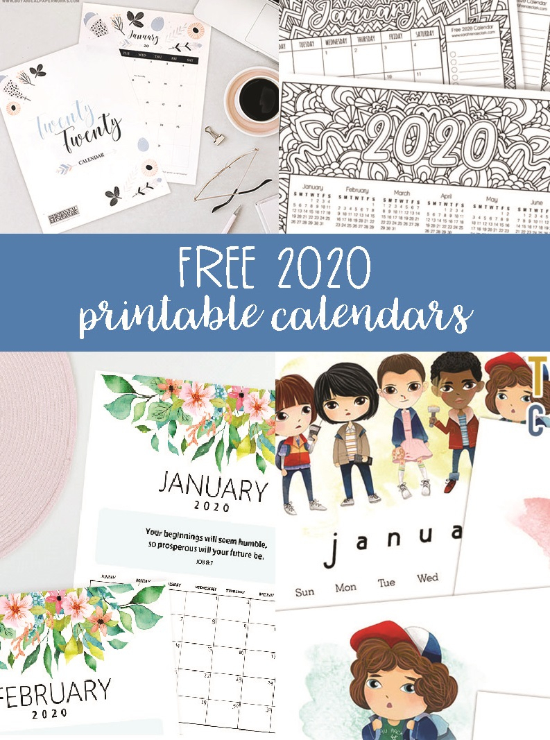 Free 2020 Printable Calendars  Crafting In The Rain regarding Printable Disney Calendar 2020