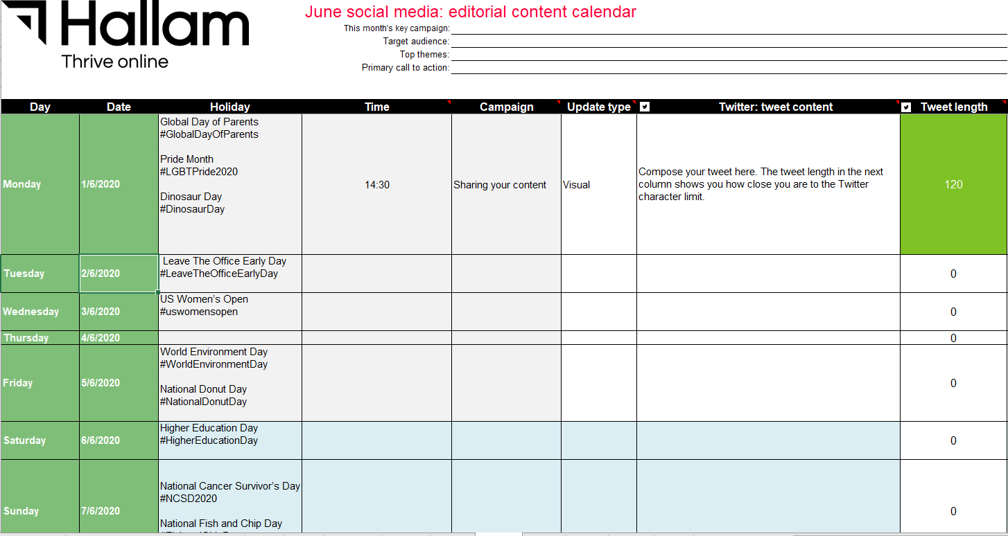 Free 2020 Social Media Marketing Calendar | Plan Your Social regarding Time And Action Calendar Template