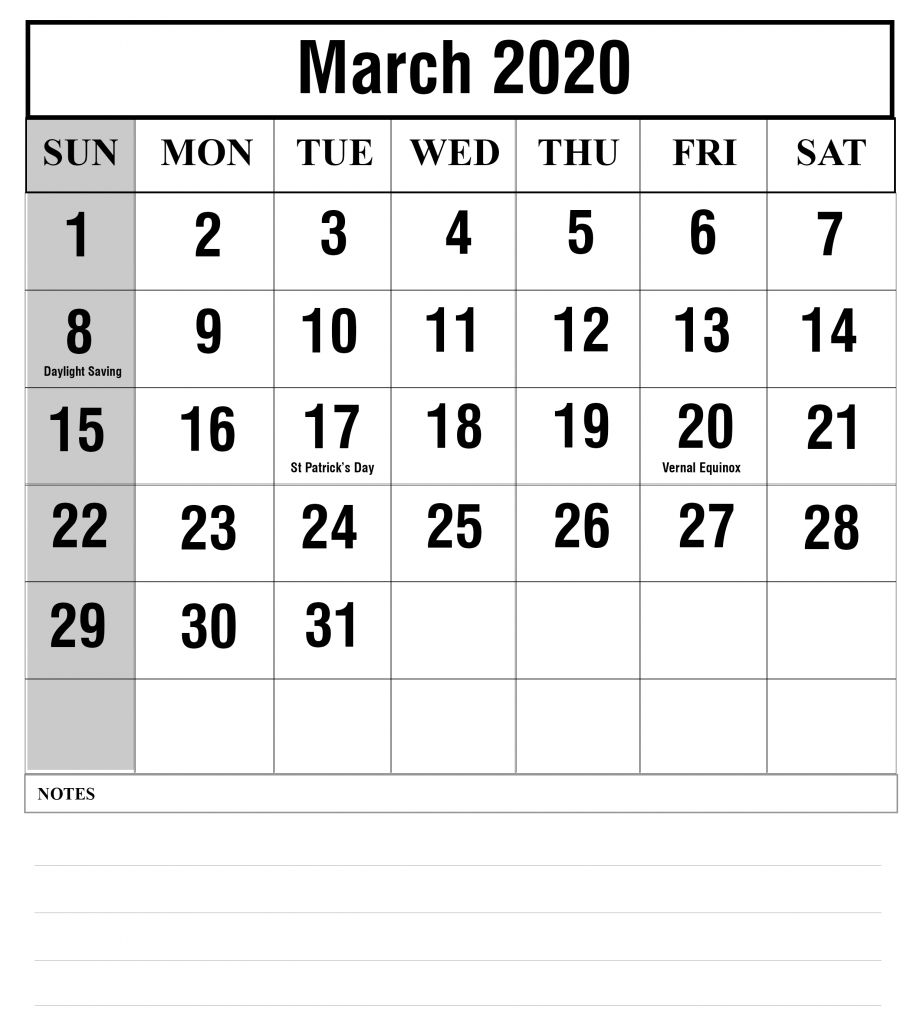 Free Blank March 2020 Fillable Calendar Template To Edit with regard to Blank Fillable Calendar