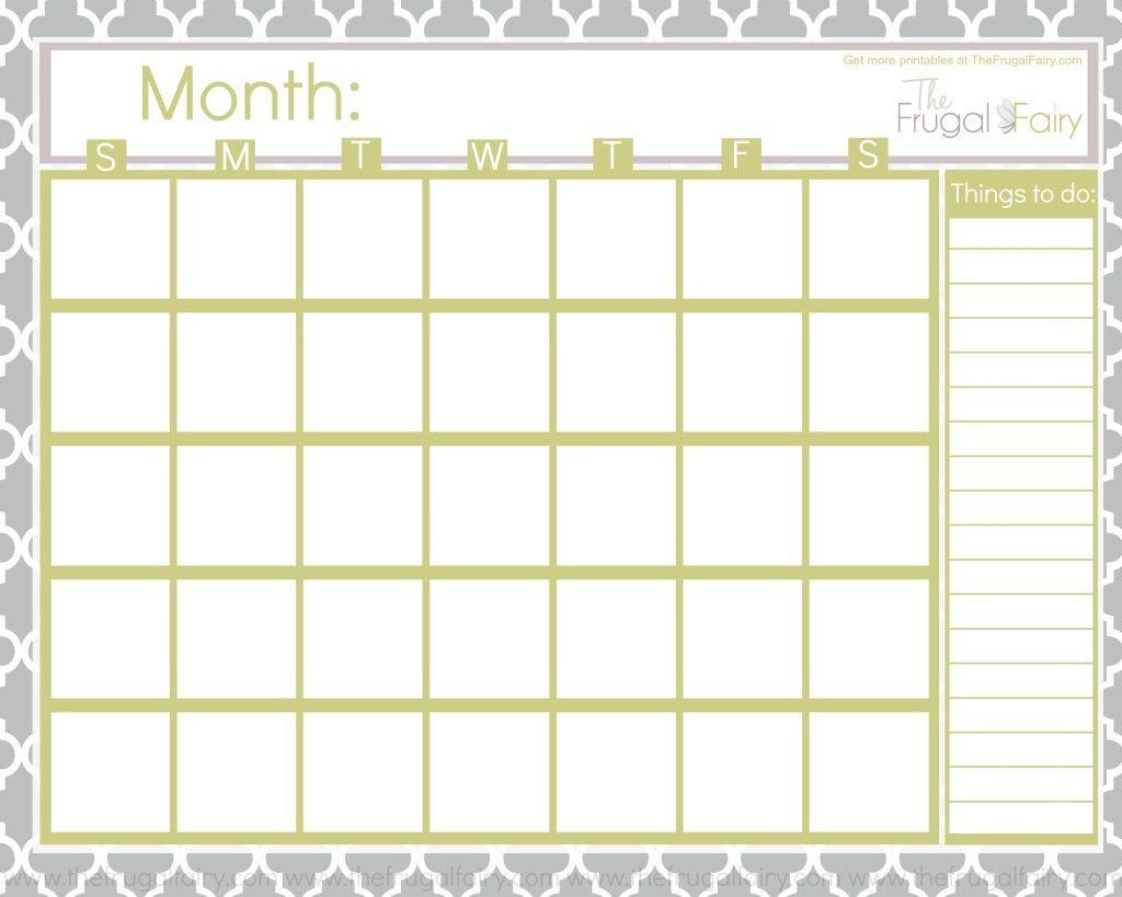 Free Blank Printable Calendar | Шаблоны Календарей intended for Empty Printable Calendar