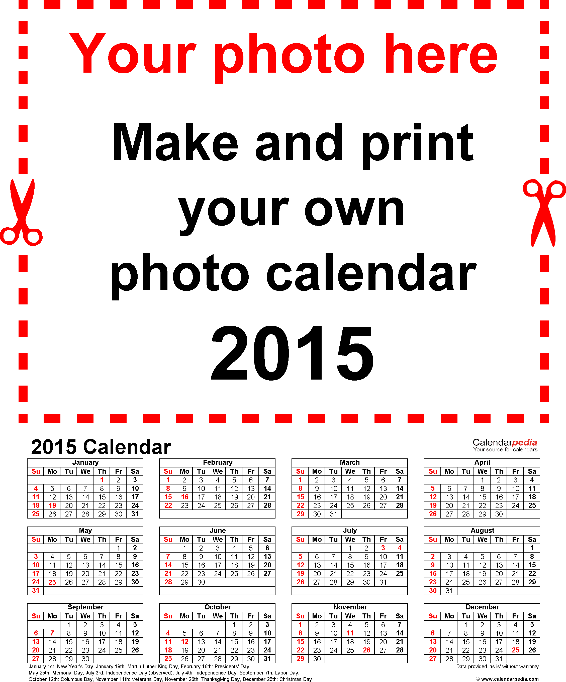 Free Calendar 2015 Template 2017 Printable Calendar Photo regarding Word Calendar Creator