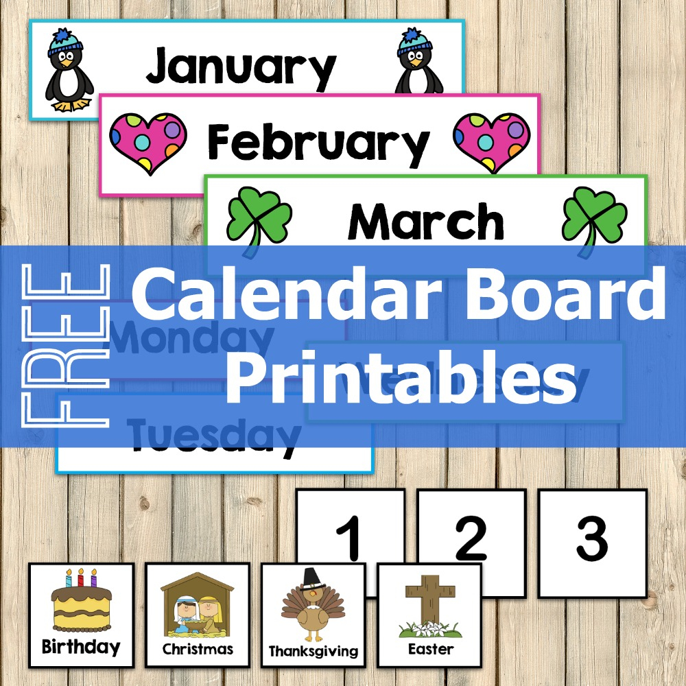 Free Calendar Board Printables  My Joyfilled Life for Calendar Numbers 1-31 Printable