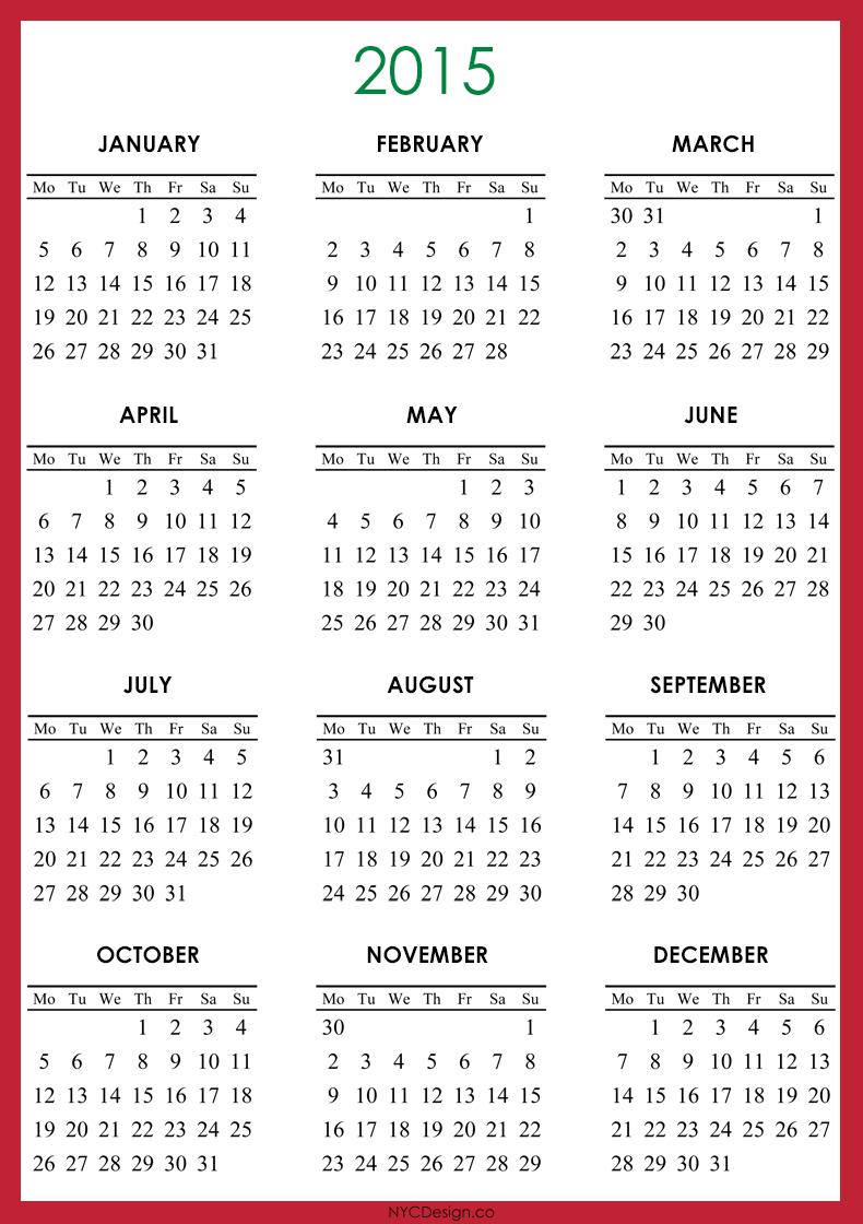 Free Calendar Template 2015 ]  Calendar Template 2015 Word for Printable Monthly Calendar 2015