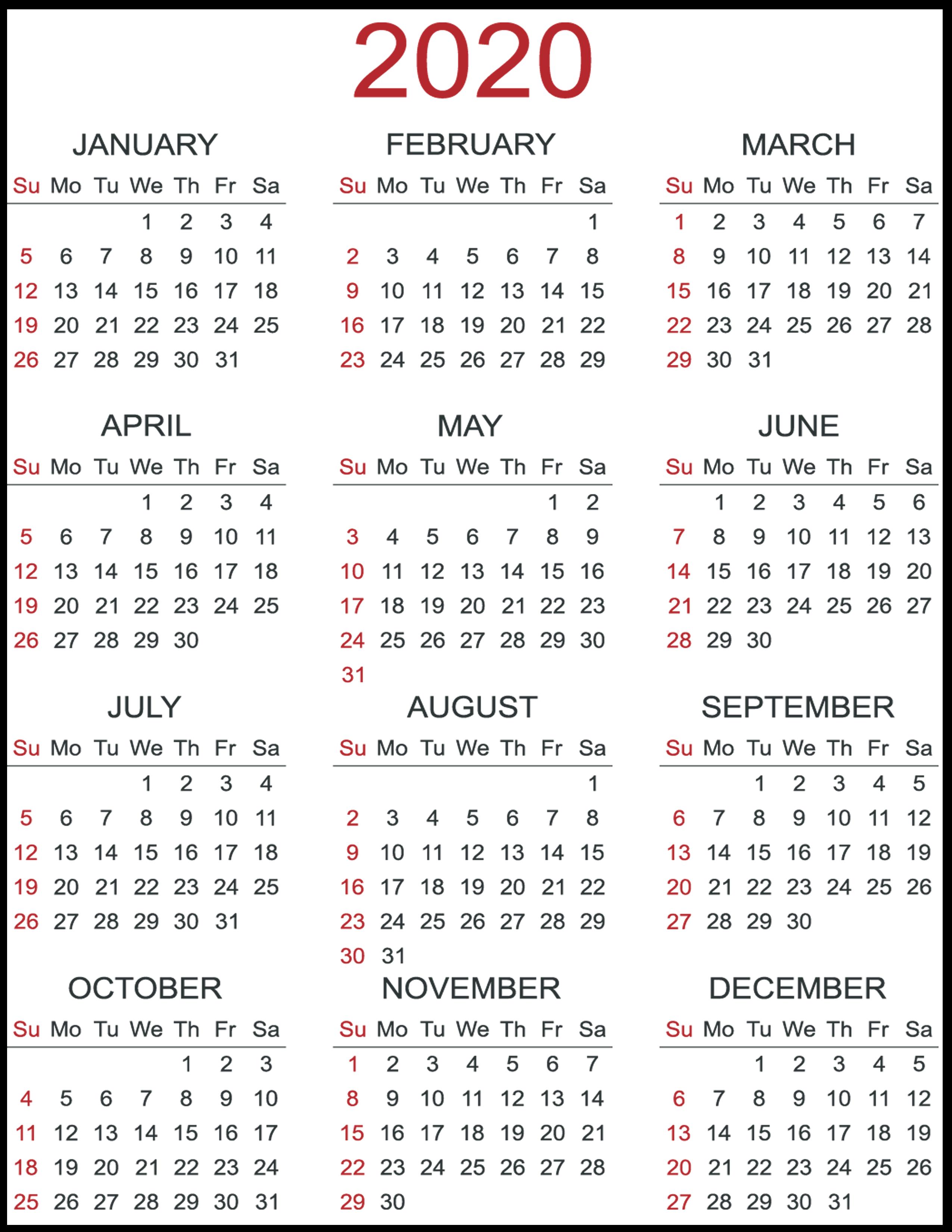 Free Calendar Template 2020 Excel  Bolan.horizonconsulting.co inside Calendar Excel Template 2020