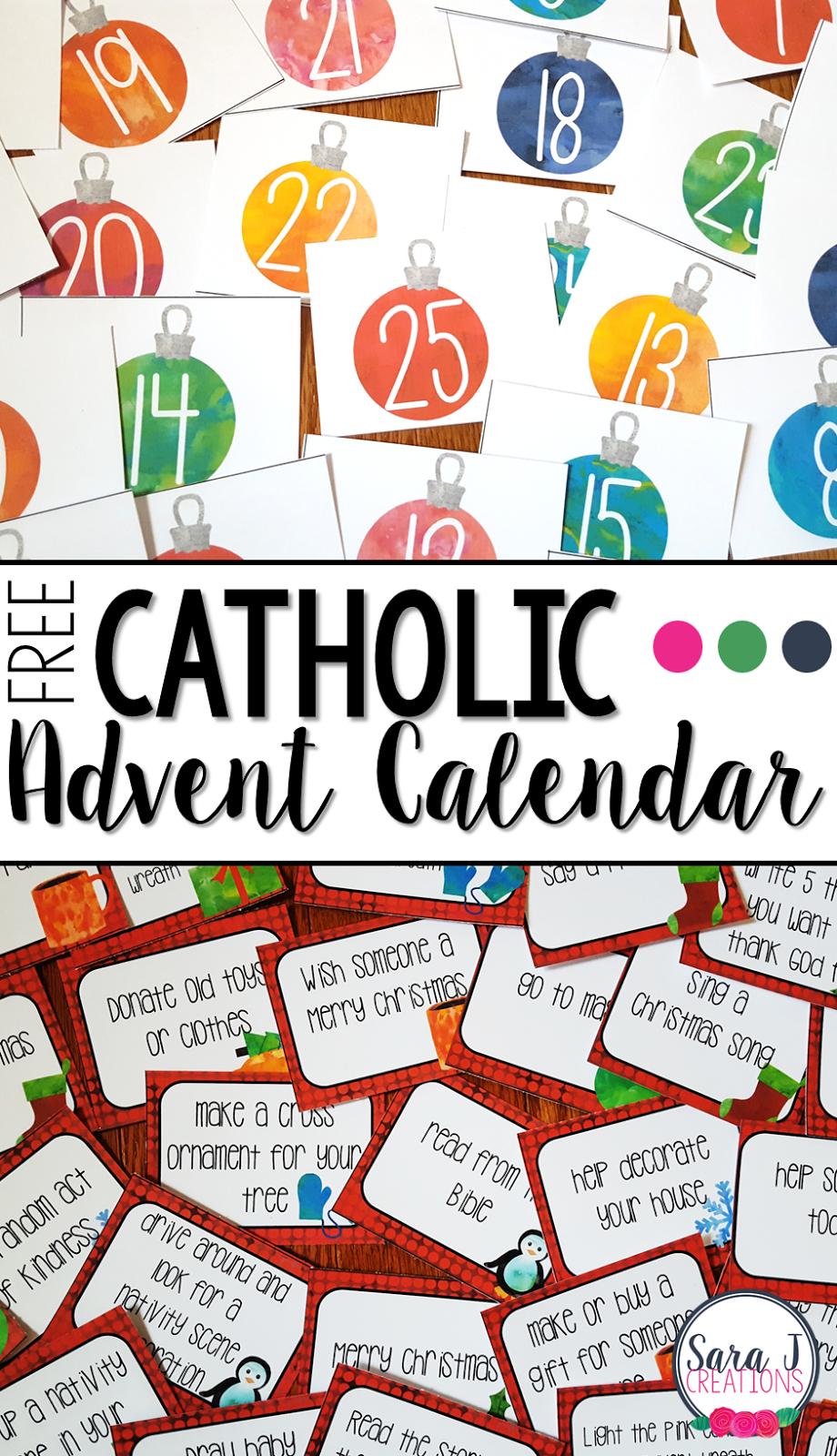 Free Catholic Advent Calendar | Advent Calendar Activities with regard to Catholic Advent Calendar Printable