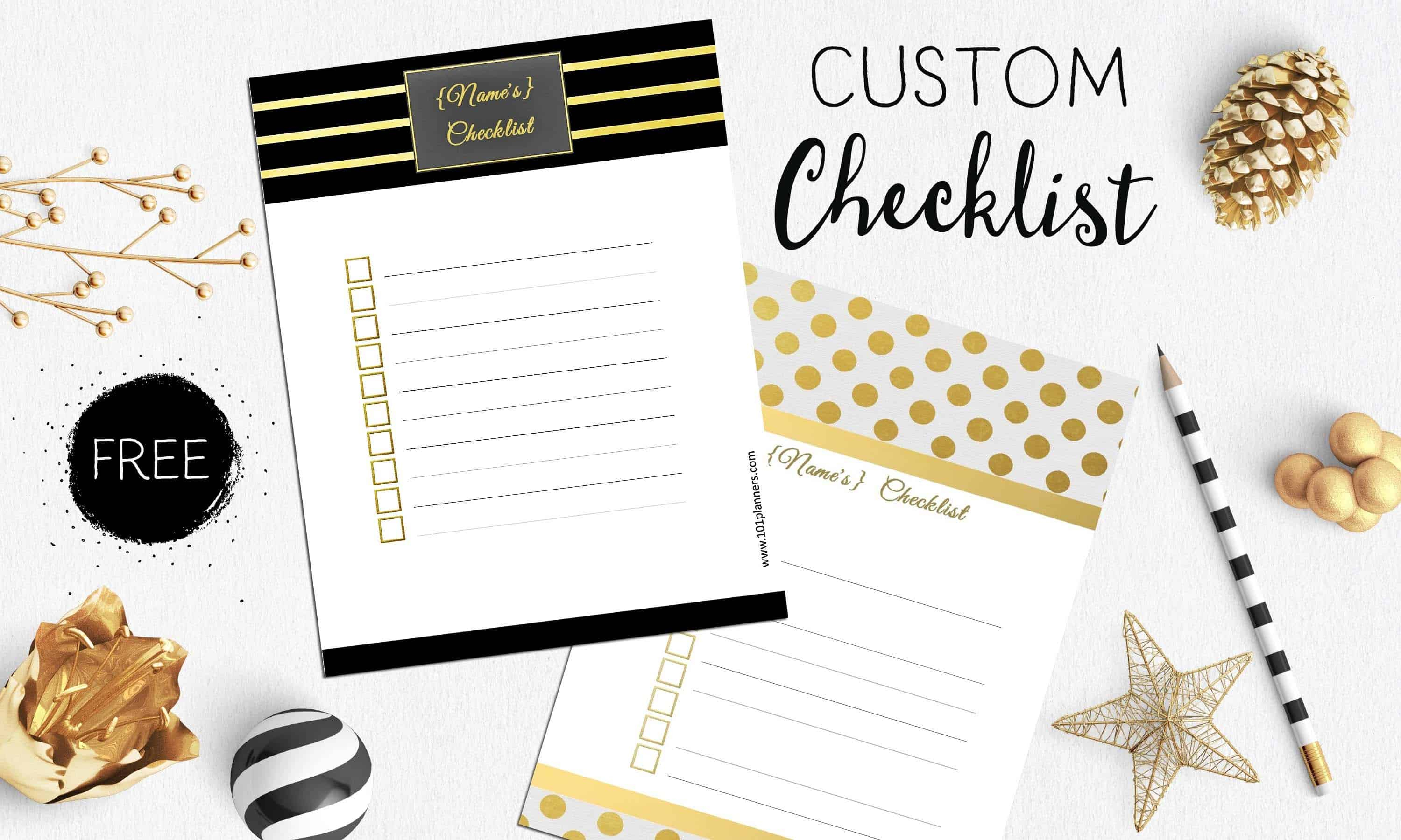 Free Checklist Template | Use The Checklist Maker Online Or with regard to Printable Blank Checklist