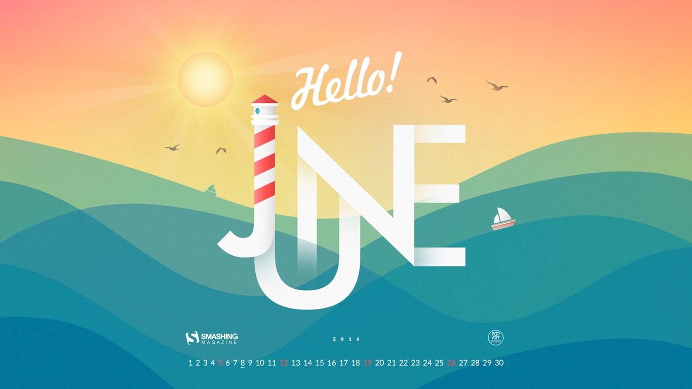 Free Download Desktop Wallpaper Calendars June 2016 Smashing with regard to Smashing Magazine Calendar
