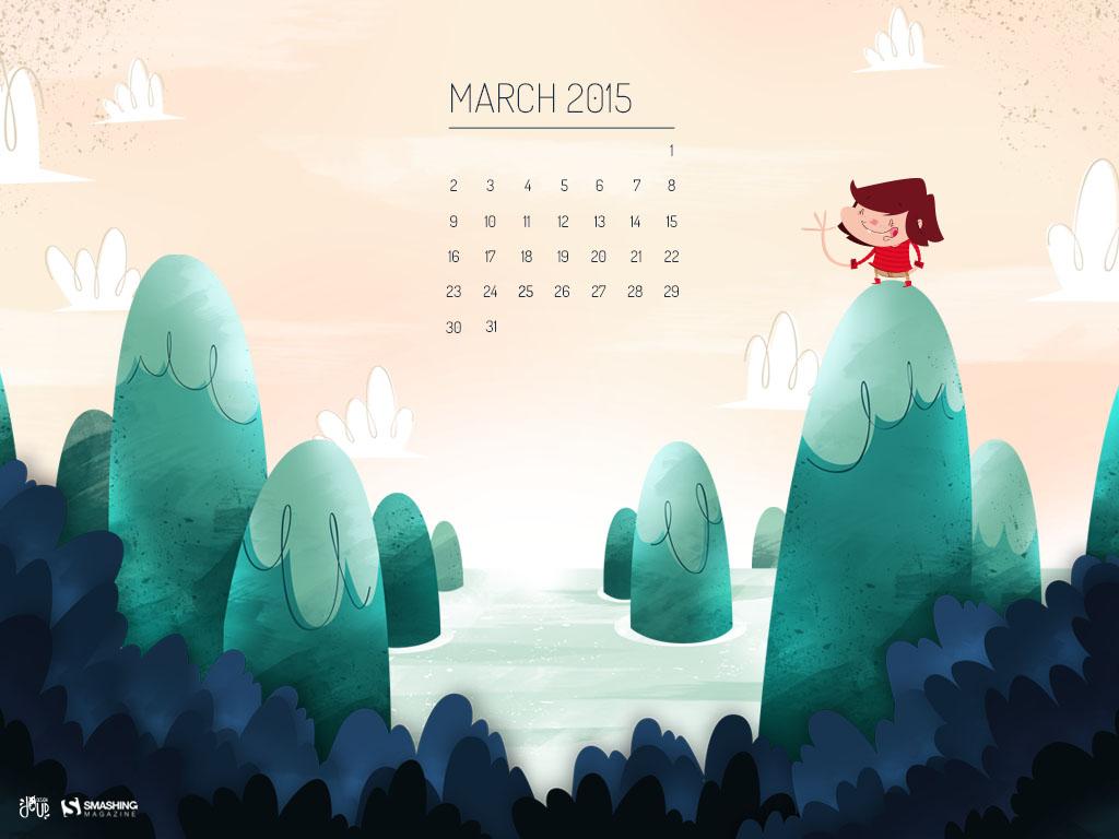 Free Download Desktop Wallpaper Calendars March 2015 pertaining to Smashing Magazine Calendar