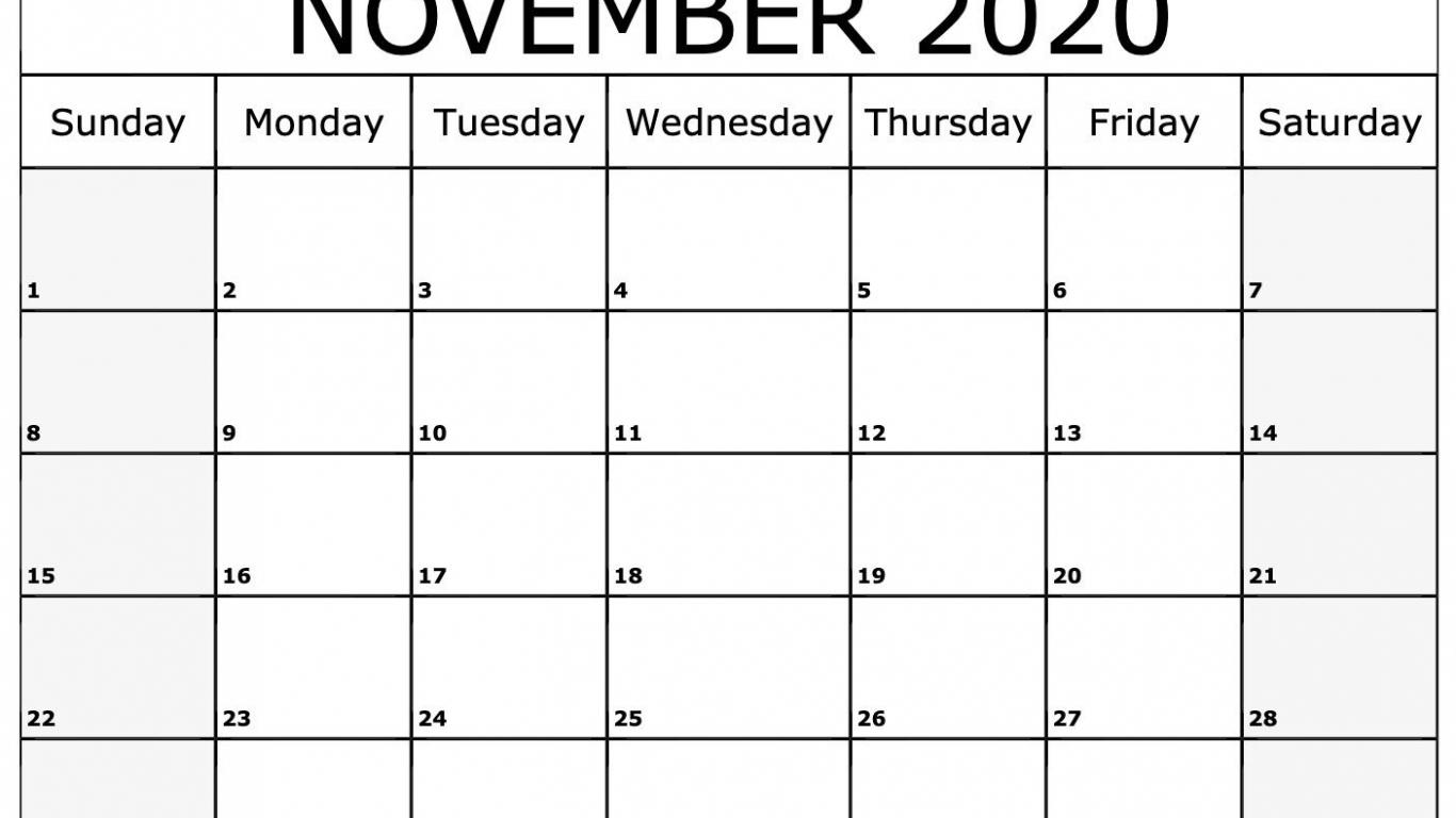 Free Download November 2020 Calendar Printable Template in November 2020 Calendar Beta Calendars
