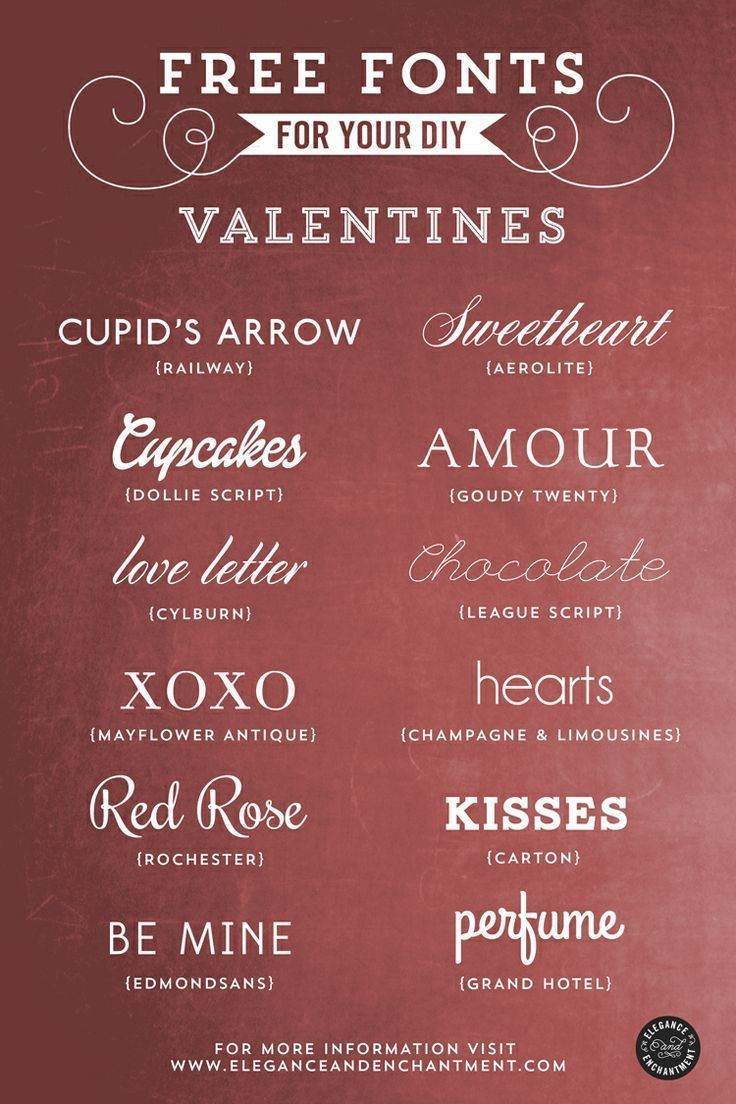 Free Fonts For Your Valentines | Fonts, Typography Fonts for Elegance And Enchantment