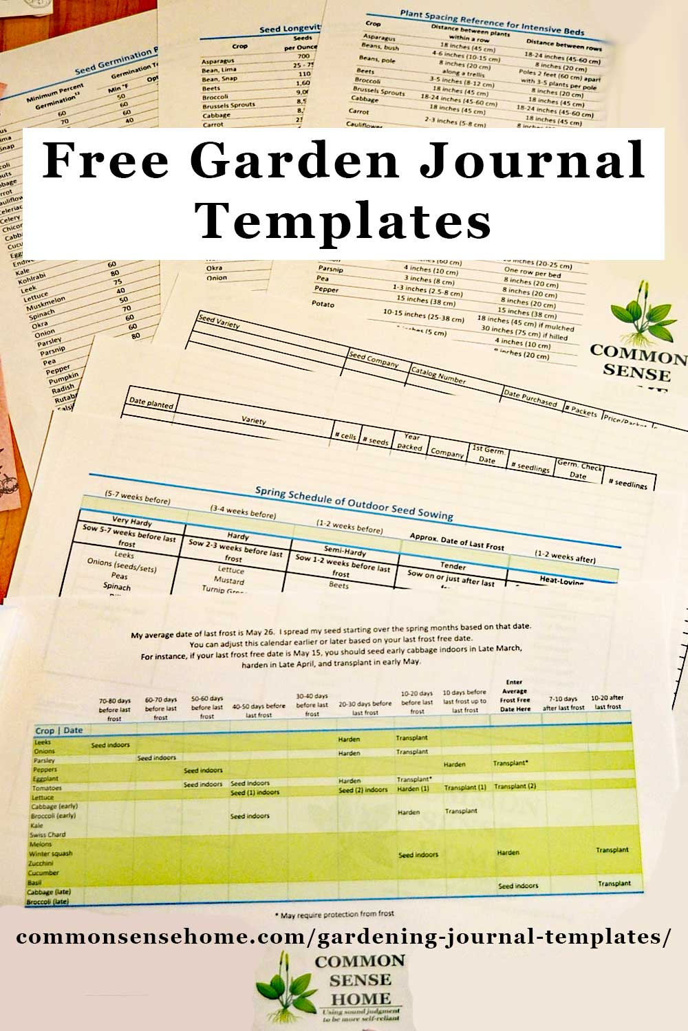 Free Gardening Journal Templates And Other Garden Record with Vegetable Planting Calendar Excel