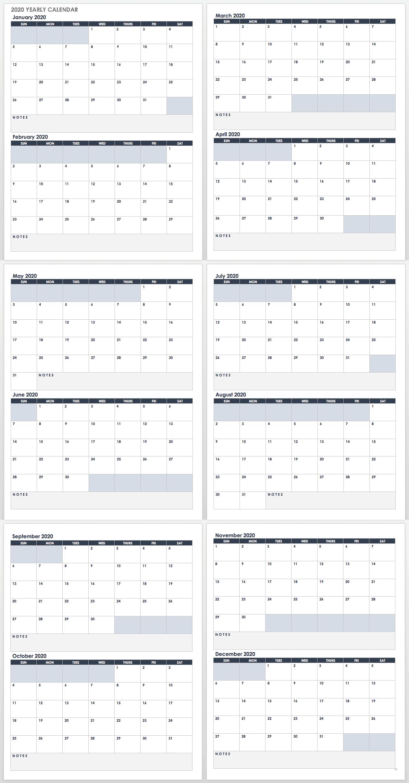 Free Google Calendar Templates | Smartsheet pertaining to Free Printable 2020 Employee Attendance Calendar