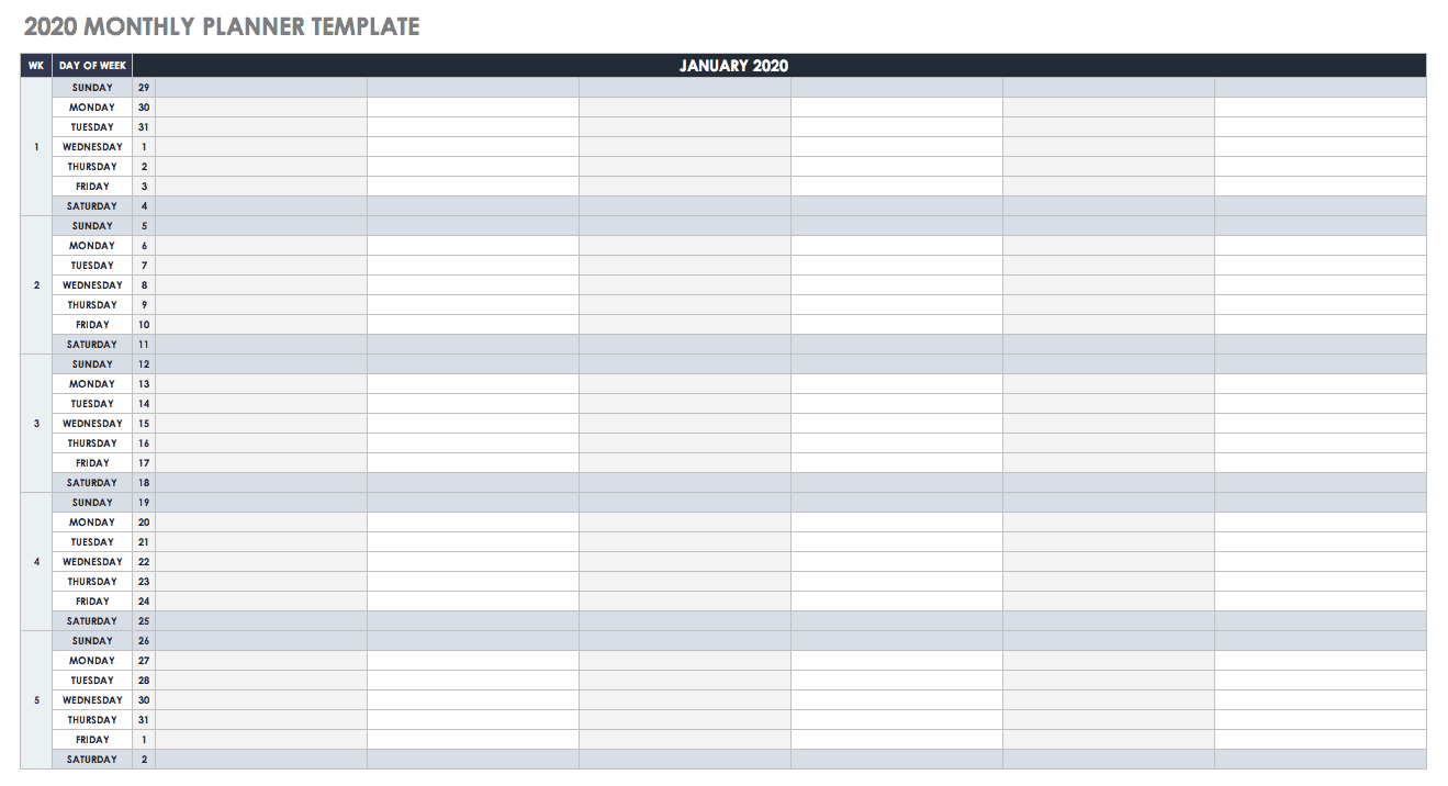 Free Google Calendar Templates | Smartsheet throughout Google Calendar Template 2020