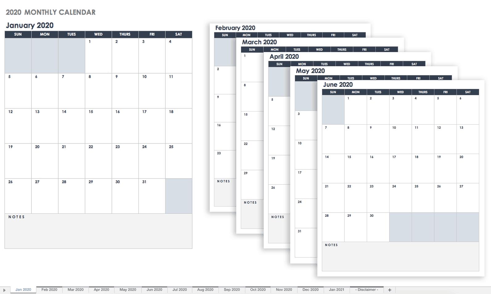 Free Google Calendar Templates | Smartsheet with 2020 Employee Attendance Calendar Free