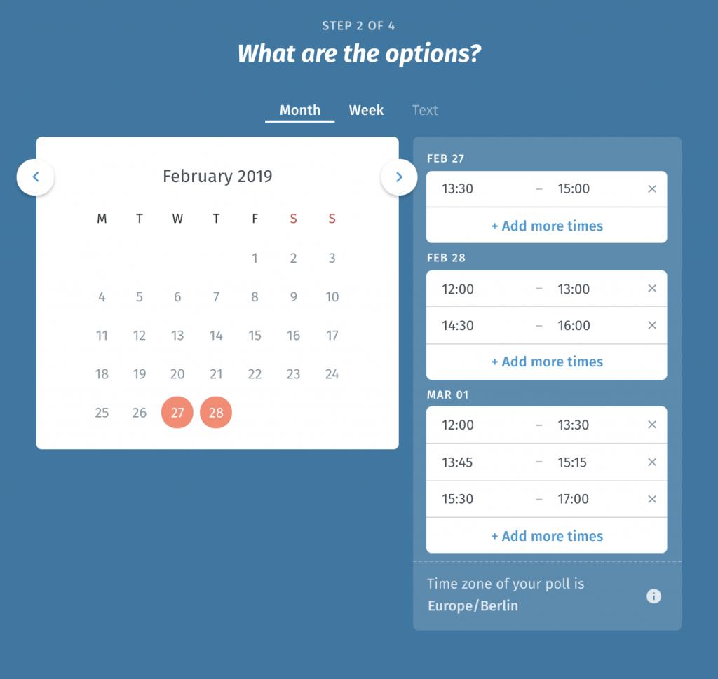 Free Online Schedule Maker  Plan Meetings And More! | Doodle inside Employee Schedule Creator