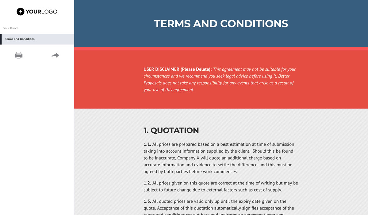 Free Plumbing Quote Template  Better Proposals inside Plumbing Proposal Template Free