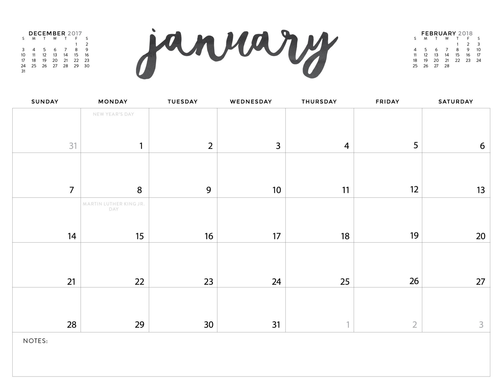 Free Pretty Calendar Templates | Monthly Printable Calender in Pretty Printable Calendar