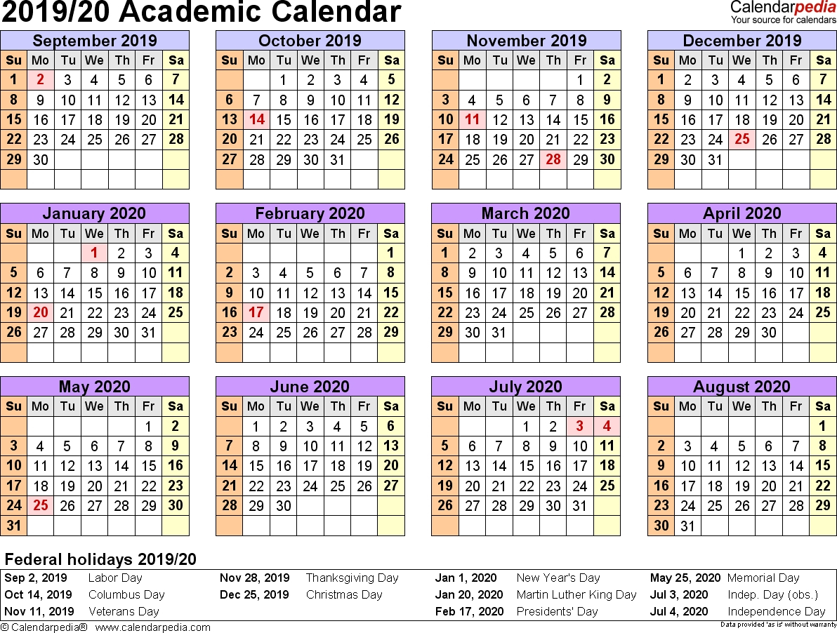 Free Printable 20192020 Academic Calendar  Calendar pertaining to Uga Academic Calendar 2020