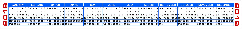 Free Printable 2020 Calendars & 2020 Calendar Strips inside Keyboard Calendar Strips 2020
