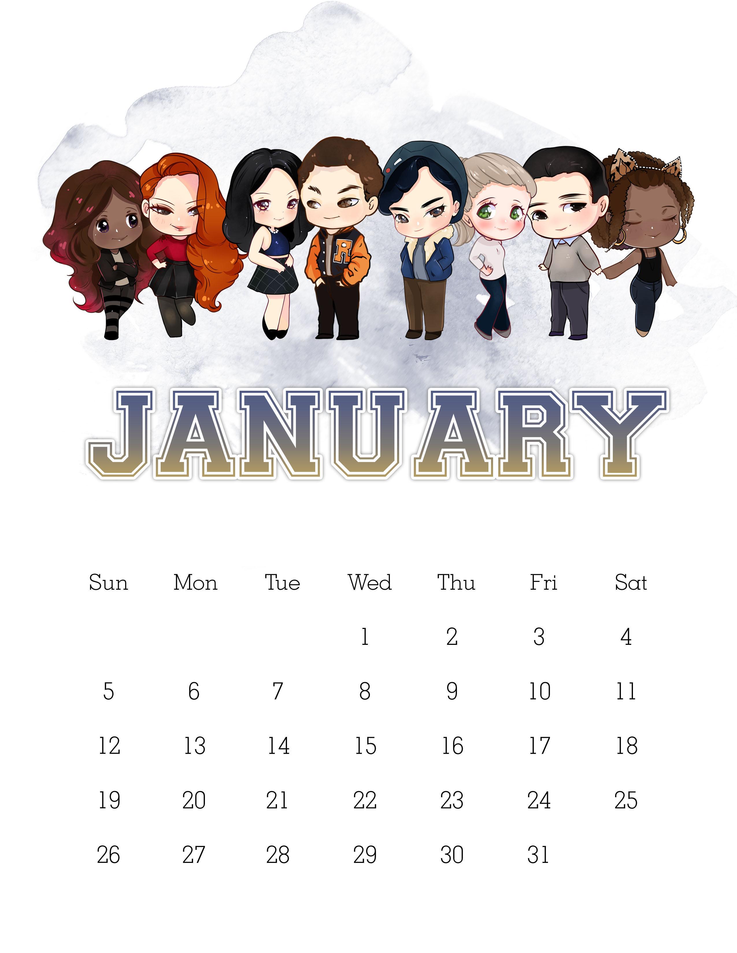 Free Printable 2020 Riverdale Calendar  The Cottage Market with Printable Disney Calendar 2020