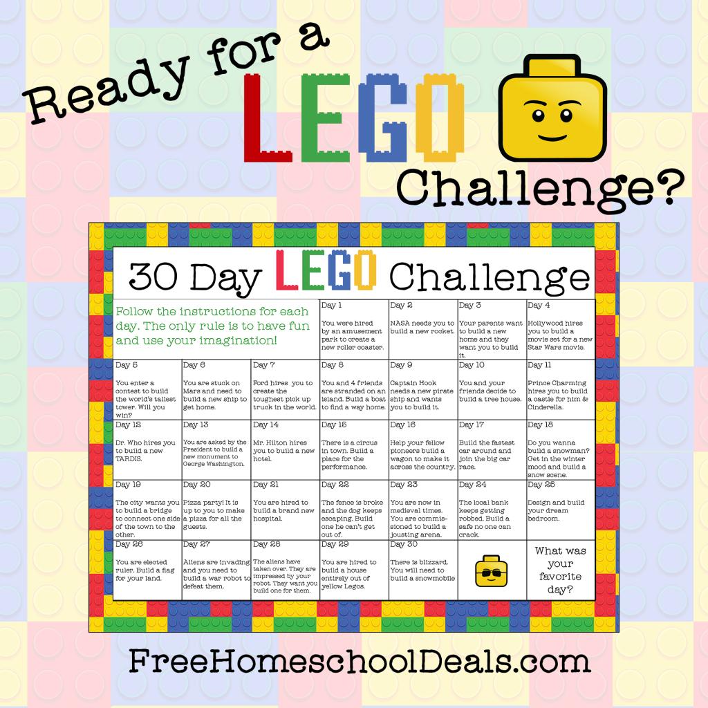 Free Printable 30Day Lego Challenge Calendar | Lego regarding Blank 30 Day Challenge Calendar